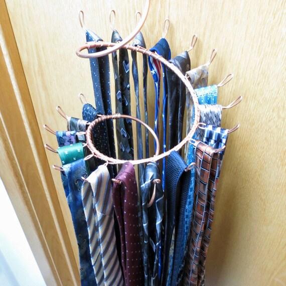 Tie Rack Long Hook Spiral Copper Wall Rack Tie Hanger