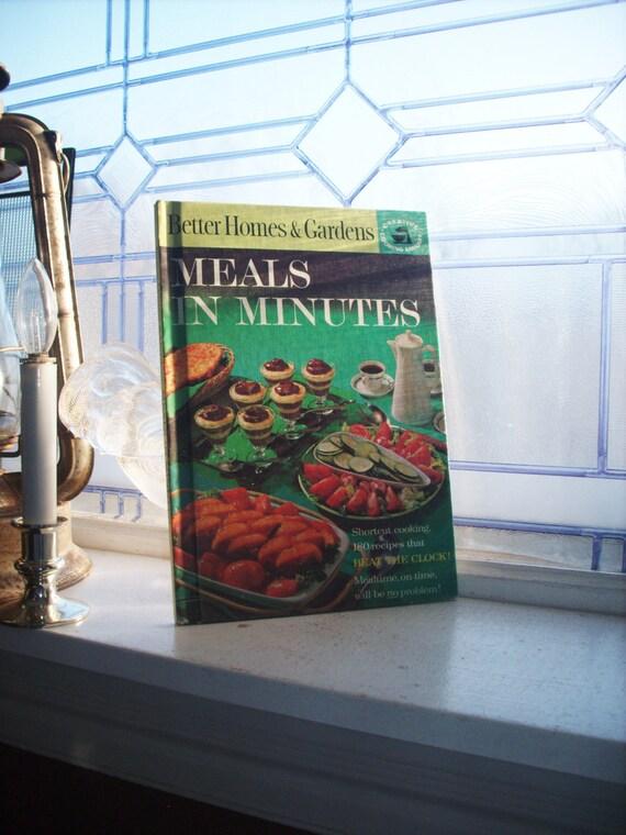 Vintage Cookbook Better Homes & Gardens Meals In Minutes 1963 Hardcover