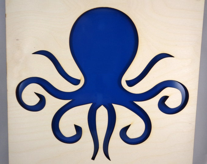 Plywood Octopus and Recycled Aluminum