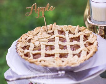 Pie Toppers - Laser Cut Wood Pie Signs