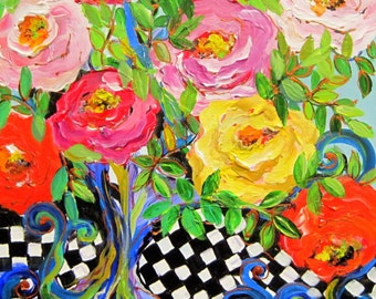 Rose Tree is an original painting 16 x 20  Art by  Elaine Cory