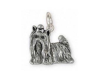 Yorkie Charm Jewelry Sterling Silver Handmade Yorkshire Terrier Charm YK292X-C