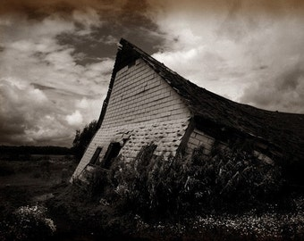 Rural decay photograph, home decor, Fine Art Photograph