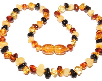 Genuine Baltic Amber Baby Teething Necklace Mixed