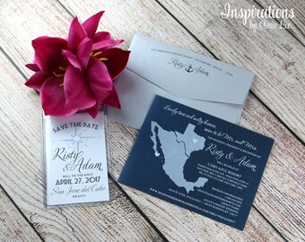 Save the Date luggage tags, Save the Date, Mexico Wedding, Destination Wedding