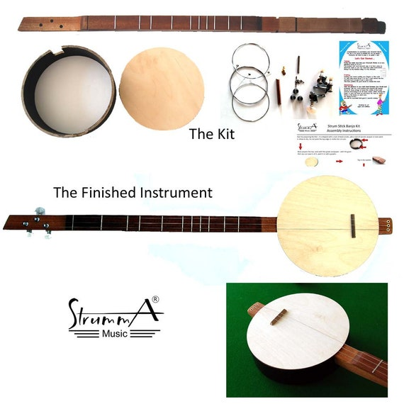 Strumma Stickie Banjo Kit Strum Stick Dulcimer Three String