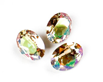 18x13 mm LUMINOUS GREEN Swarovski Oval Fancy Stones Article 4120