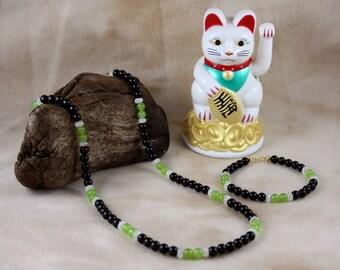 "24"" Astraea Necklace & Bracelet Gemstone Jewelry Set"