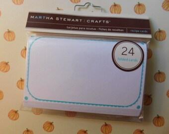 Martha Stewart Brand Recipe Cards - New in Package