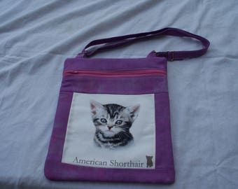American Shorthair  Kitten Cross Body Bag