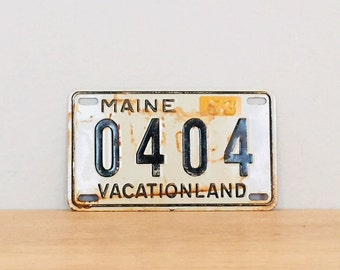 Vintage Souvenir Mini License Plate 1953 Maine