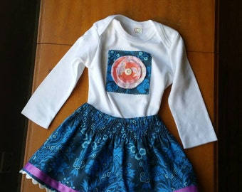 Spring SALE! - One-of-a-Kind Onesie with Skirt, size 12-18 months