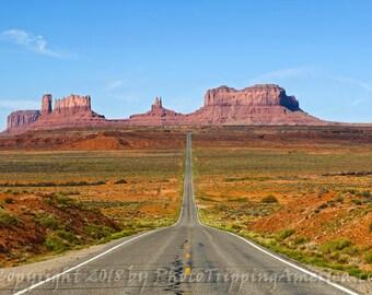 Wall Art, Monument Valley, Canvas, Photo on Canvas, Photograph, Metallic Paper, Monument Valley Landscape, Photo, Desert Landscape, Desert
