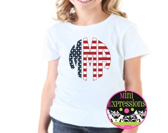 4th of July Red, White, and Blue Shirt or Bodysuit Personalized Just For You