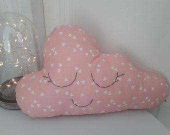 Cloud of cotton and kapok pillow, pink girl, kids decor, birthday gift, original pillow