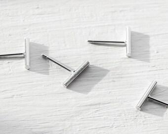 Fine Line stud earrings, bar earrings ,minimalist earrings,silver studs