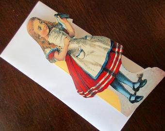vintage blank card - Alice In Wonderland, drink me