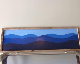Blue Ridge Mountain Scene, Cabin decor, Blue Ridge Mountains, Appalachian Mountains, Handmade,Mountain Landscape,