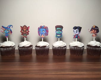 Super Monsters Cupcake Toppers (set of 12)