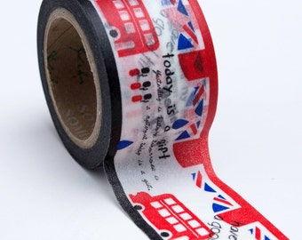 Washi Tape - Wide 30mm - Travel London - Deco Paper Tape No. 713