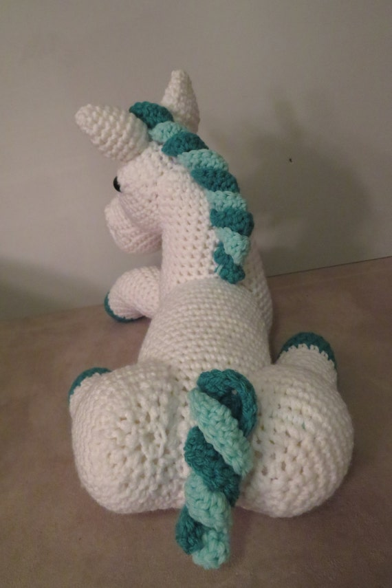 Unicorn amigurumi pattern toy unicorn pattern laying down