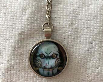 Saw inspired keychain