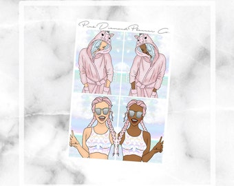Pool Party // Fashion Girls (Planner Stickers)