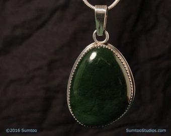 Alaskan Jade in Argentium Sterling Silver