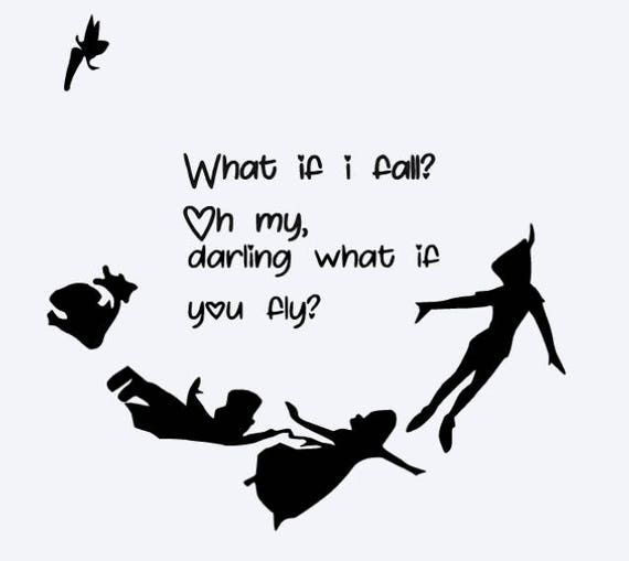 svg disney what if i fall what if you fly peter pan quote