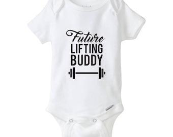 Future Lifting Buddy Baby Onesie