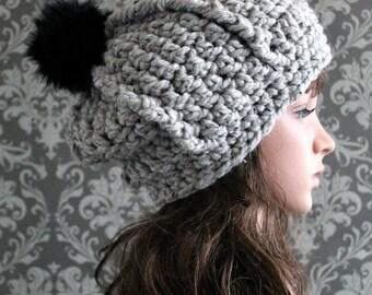 Crochet PATTERN - Crochet Slouchy Hat Pattern - Bulky Crochet Hat Pattern - Crochet Patterns Women - Includes Multiple Sizes - PDF 403