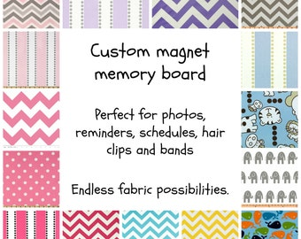 Customized Baby Nursery - Magnetic Board - Kids Organizer - Playroom Storage - Kids Storage - Magnetic Board - Custom Fabric