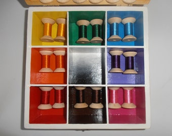 Montessori-Inspired Colour Box 2 with NEW Chunky Wooden Spools and Colour Wheel Spinner