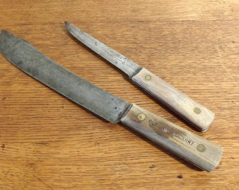 Incroyable Old Hickory Kitchen Knives ~ Large Butcher Knife U0026 Boning Knife ~ Ontario  Knife Co.
