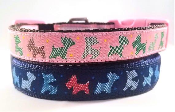 Little Terrier Dog Collar / Handmade / Adjustable / Terrier / Westie / Yorkshire Terrier / West highland terrier / Carin terrier / Pet Lover