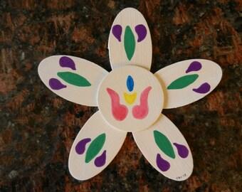 Hand painted Pennsylvania Dutch Spring Tulip Magnet