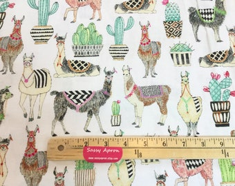 Lovely Llamas White Color ~ Lovely Llamas Collection for Michael Miller Fabrics