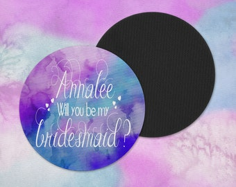 Bridesmaid Coasters - Will you be my Bridesmaid - Bridesmaid Gift - Drink Coaster - Beverage Coaster - Wedding Decor