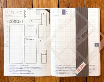 Basic Boxes HOBONICHI Techno Spread Journal Page Layout - 4mm Grid