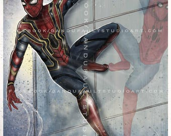 """Spider-Man 'Homecoming' 11x17"""" Artist Signed Print"""