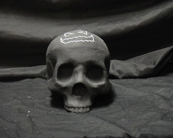Chalkboard skull!