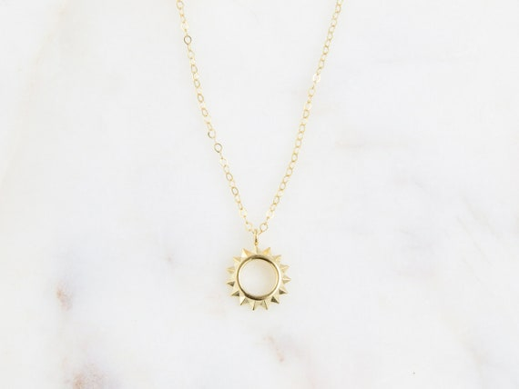 Sun Necklace | Sun Necklace in Gold | Celestial Jewelry | Sun Necklace Gold | You Are My Sunshine | Best Friend Gift | Gift for Her
