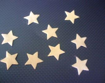 x 5 self-adhesive felt 20 mm stars white scrapbooking, sewing, decoration...