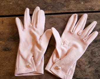 Pink vintage gloves, Vintage gloves for wedding/prom/costume