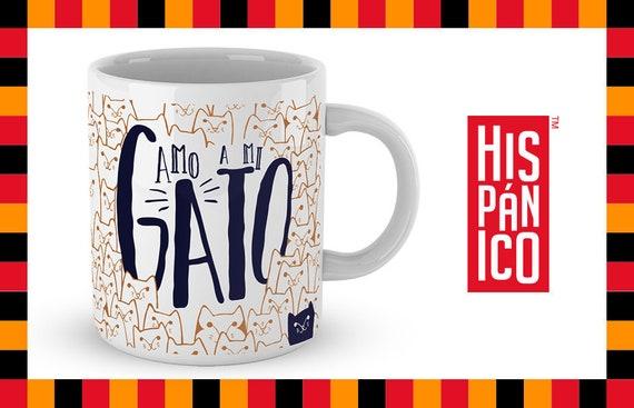 "Spanish Mug ""Amo a mi Gato"""