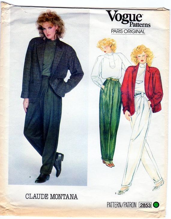 CLAUDE MONTANA Frauen Anzug Schnittmuster Vogue 2853