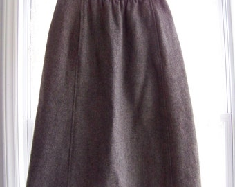 SALE! Vintage Gray Wool Skirt with Pockets:S