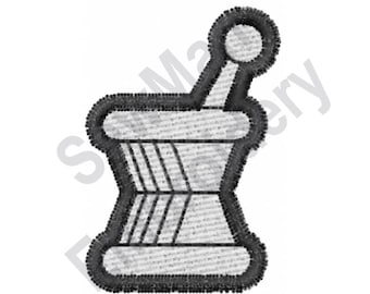 Pharmacy - Machine Embroidery Design, Mortar and Pestle