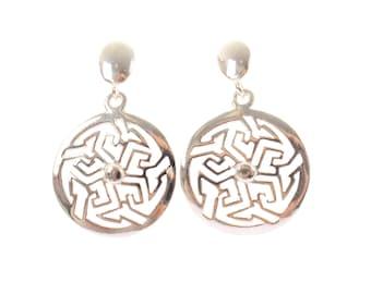 Sterling Silve Celtic Circle Earrings