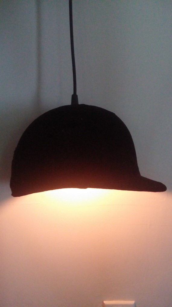 English Riding Helmet Pendant Light
